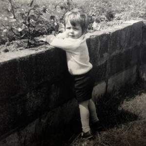 Aged 4 in the back garden of our house in Upminster, Essex